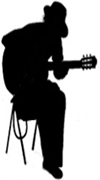 Sillouette Guitar | Guitarist | Paul White