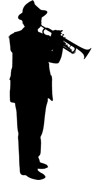 Sillouette Trumpet | Trumpet Player | Brass Section | Pinstripe Pete Walker